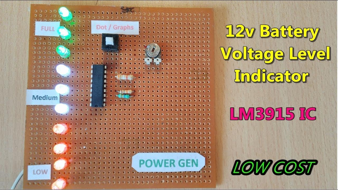 Lm3915 Circuit Schematics Circuits In 2018 T 24v Digital Power Supply Atmega8 Variable 120x120 12v Battery Voltage Level Indicator And Checking Using Ic
