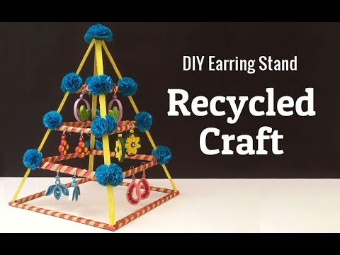 How To Make An Earring Holder From Cardboard Diy Jewelry Organizer You
