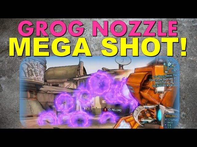 The Grog Nozzle MEGA SHOT! | Borderlands 2 Dragon Keep DLC Trick