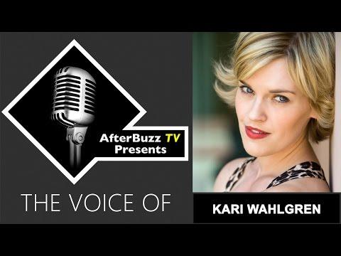 Kari Wahlgren Interview   AfterBuzz TV's The Voice Of
