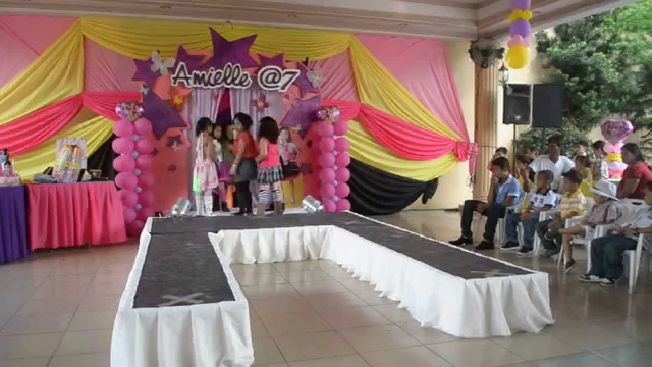 Amielle S 7th Birthday Party 7 Little Fashion Models Youtube