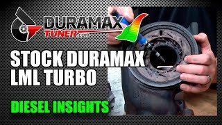 The stock Duramax LML Turbocharger - Diesel Insights