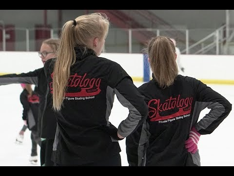 Figure Skating Group Lesson at Canlan Romeoville, IL Video