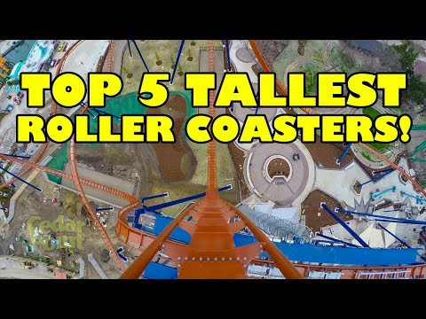 Top 5 Tallest Roller Coasters That Go Upside Down in the USA - Onride POV!