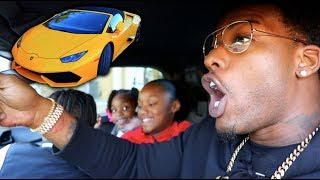 Took my kids to school smashed inside a two seat Lamborghini and I ...