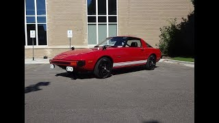 1979 Mazda RX-7 RX7 in Red & Wankel Rotary Engine Sound on My Car Story with Lou Costabile