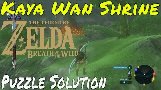 The Legend of Zelda - Breath of The Wild | Kaya Wan Puzzle Solution | Nintendo