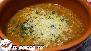 508 - Minestrone di zucca e lenticchie..senza usare le cavicchie! (minestra invernale vegana facile)
