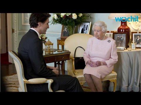 Canada's Justin Trudeau Charms Queen Elizabeth