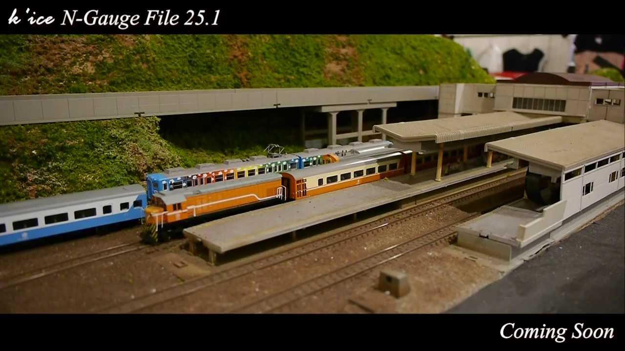 [鐵道模型HD] k'ice N Gauge File 25.0:板橋Nゲージ運転会実況編!台鉄特急電車 & 台灣高鉄700T Original Sounds for Taiwan Railway