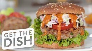 Buffalo Blue Cheese Turkey Burger Recipe  Get the Dish