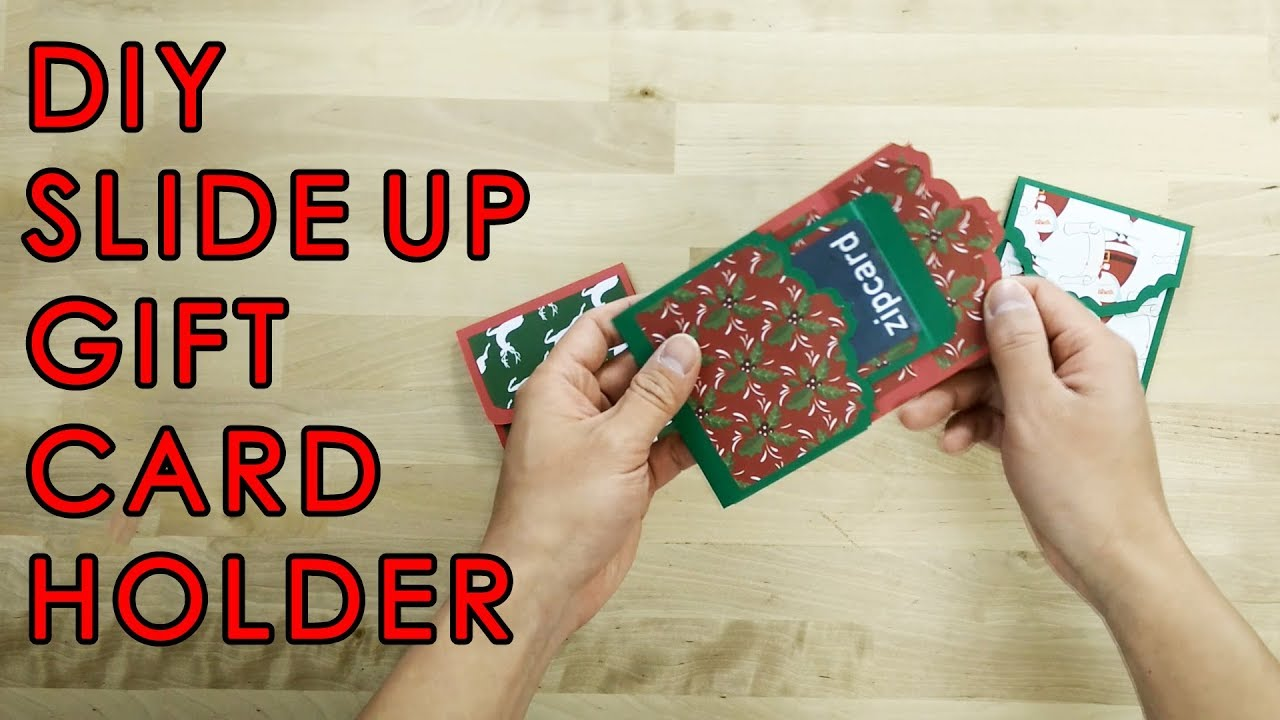 Tutorial Template Diy Slide Up Gift Card Holder Youtube