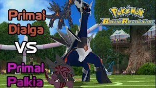 Primal Dialga vs Primal Palkia - Pokemon Battle Revolution (HACK)