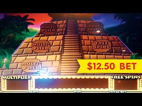 Aztec Temple Slot Machine $12.50 Bet *LIVE PLAY* Bonus!