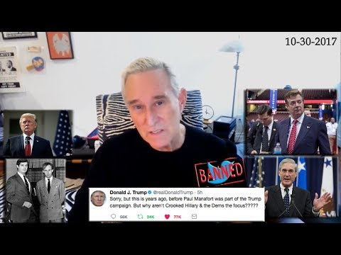Roger Stone Discusses Paul Manafort Indictment, his twitter ban, Trump DOJ, Current Events 10/30/17
