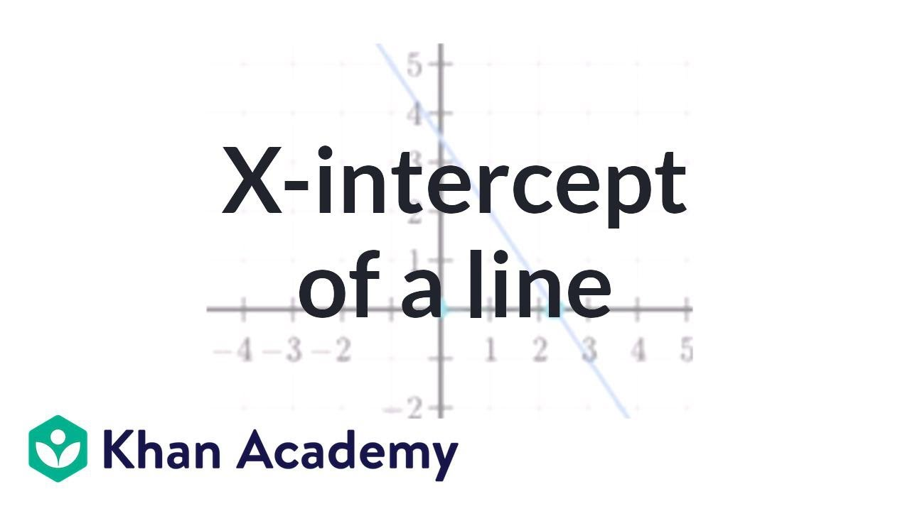 x intercept form equation  x-intercept of a line (video) | Khan Academy
