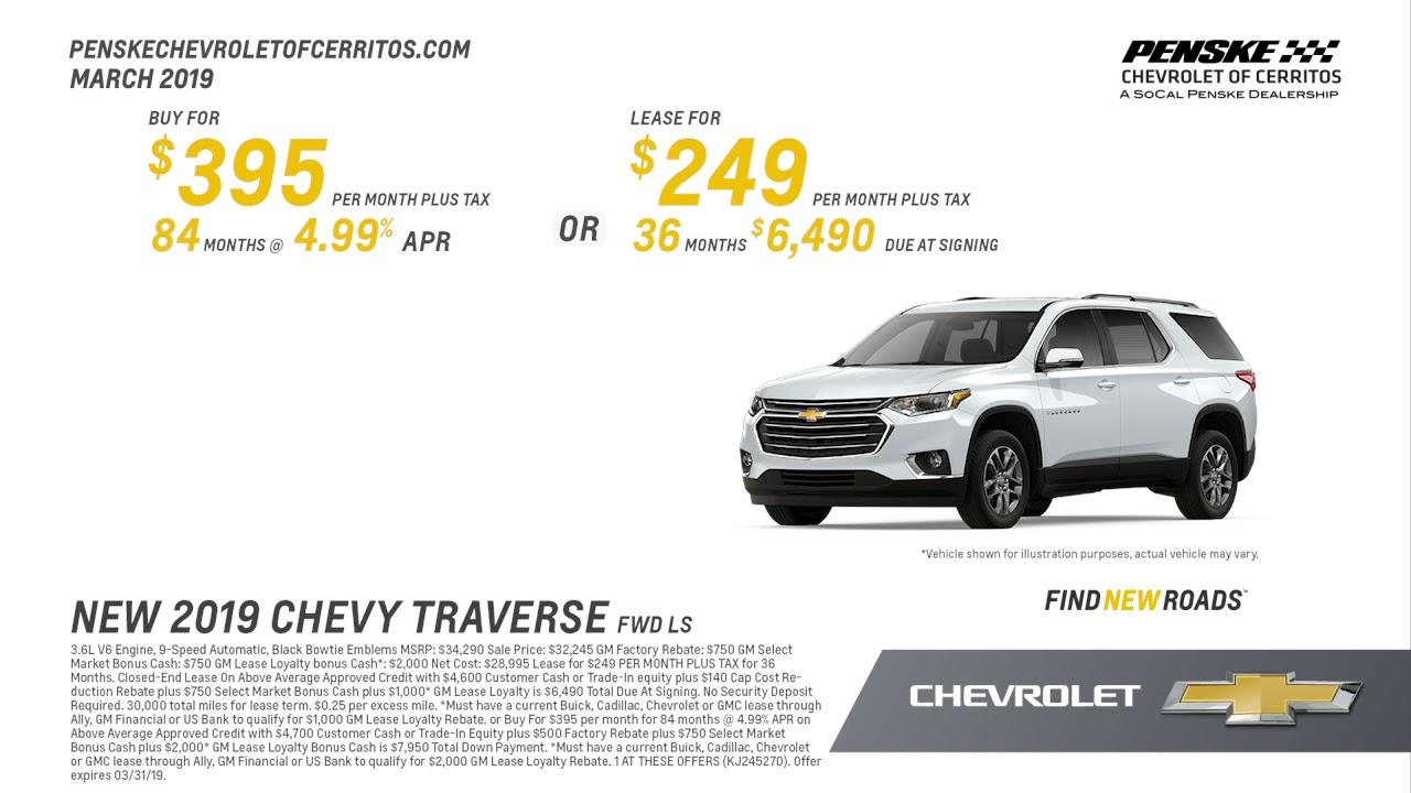 Penske Chevrolet Of Cerritos >> 2019 Chevrolet Traverse Offer Penske Chevrolet Of Cerritos March Sp 2