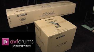 first Look Unboxing of Yamaha YSP-5600 Atmos Soundbar