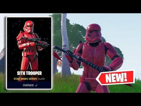 NEW SITH TROOPER Skin Gameplay In Fortnite!