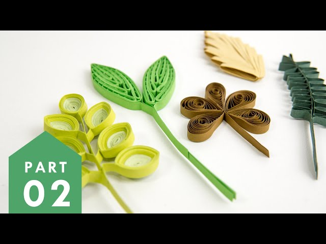 10 Paper Quilling Leaves-Part 2 | Art & Craft Tutorials by HandiWorks