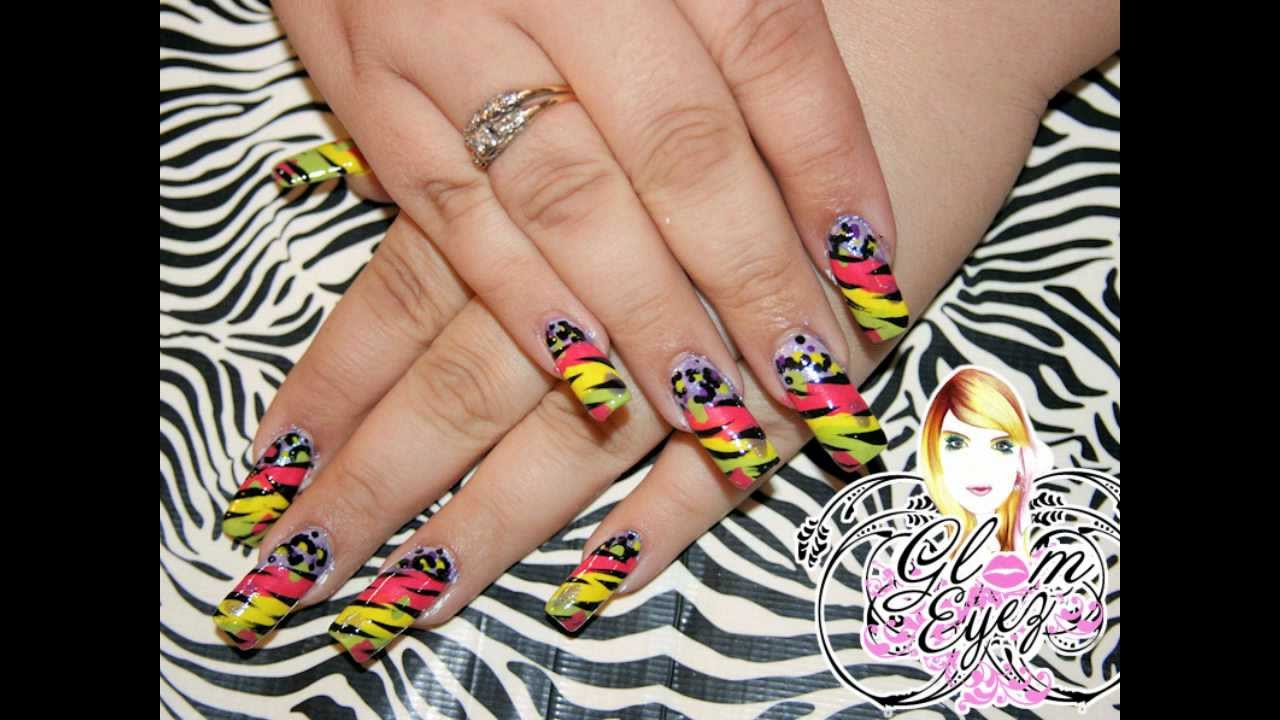 Nicki Minaj inspired nail tutorial/Unas inspirada en nicki minaj ...