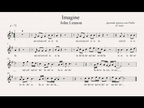 IMAGINE: (flauta, violín, oboe...) (partitura con playback)