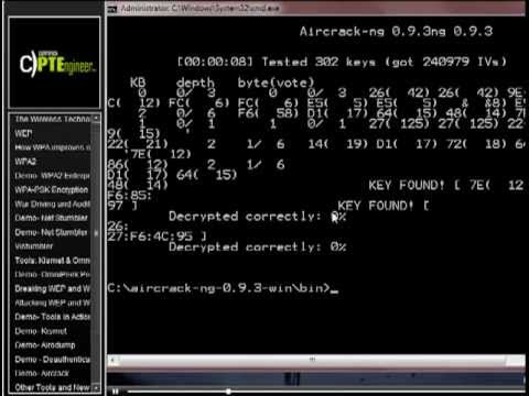 Aircrack Mile2 CPTE Demonstration Tutorial