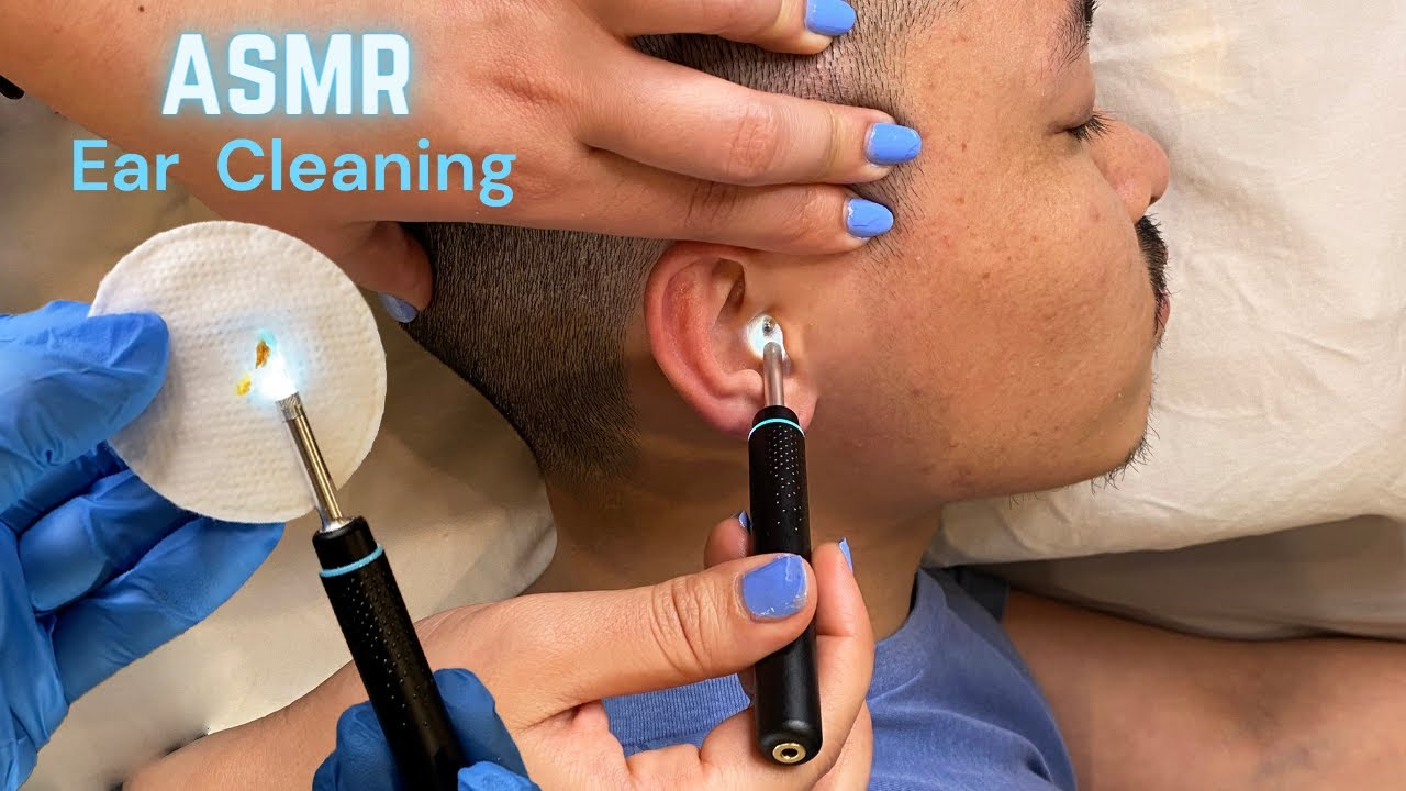 ASMR Ear cleaning and massage Compilation (Triggers for Sleep)