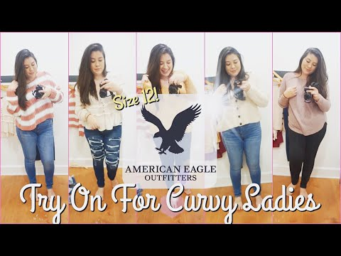 Inside American Eagles Fitting Room II AE Try On For Curvy Women Size 12!