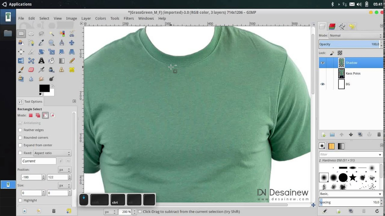 Tutorial how to create t shirt mockup in gimp youtube for How to create t shirt design