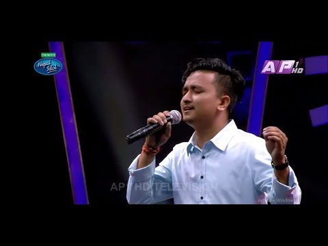 Amit Baral -  Sadhai Sadhai Cover Song Nepal Idol Season 2 Theatre Round 4