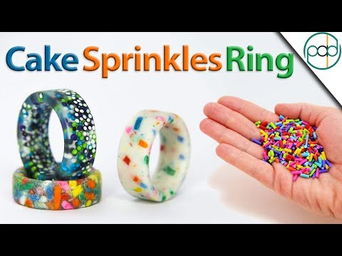 Making Candy Sprinkles into Rings (Resin Casting)
