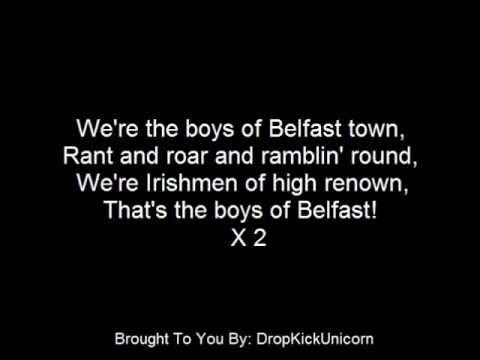 The Irish Rovers - The Boys Of Belfast - With Lyrics
