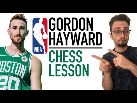 Gordon Hayward picking up chess lessons from a titled player in the NBA offseason.