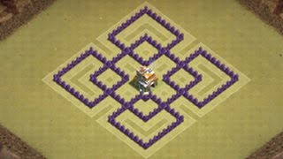 Clash Of Clans Town Hall 7 War Base Best Defense / With Air Sweeper