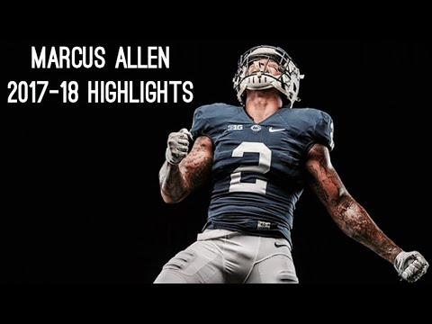 Marcus Allen Senior Season ( 2017-18 ) Highlights ᴴᴰ  || Penn State Safety #2