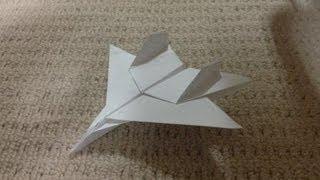 折り紙 紙飛行機 戦闘機 F15 折り方 作り方 How to make an F15 Eagle Jet Fighter Paper Plane origami thumbnail