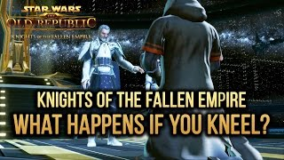 SWTOR Knights of The Fallen Empire - What happens if you kneel? (Important Choice #4)