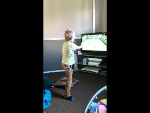 Kid breaks tv