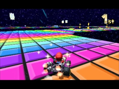 Mario Kart 7: SNES Rainbow Road [1080 HD]