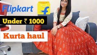 FLIPKART UNDER ₹ 1000 KURTA HAUL | Sana K