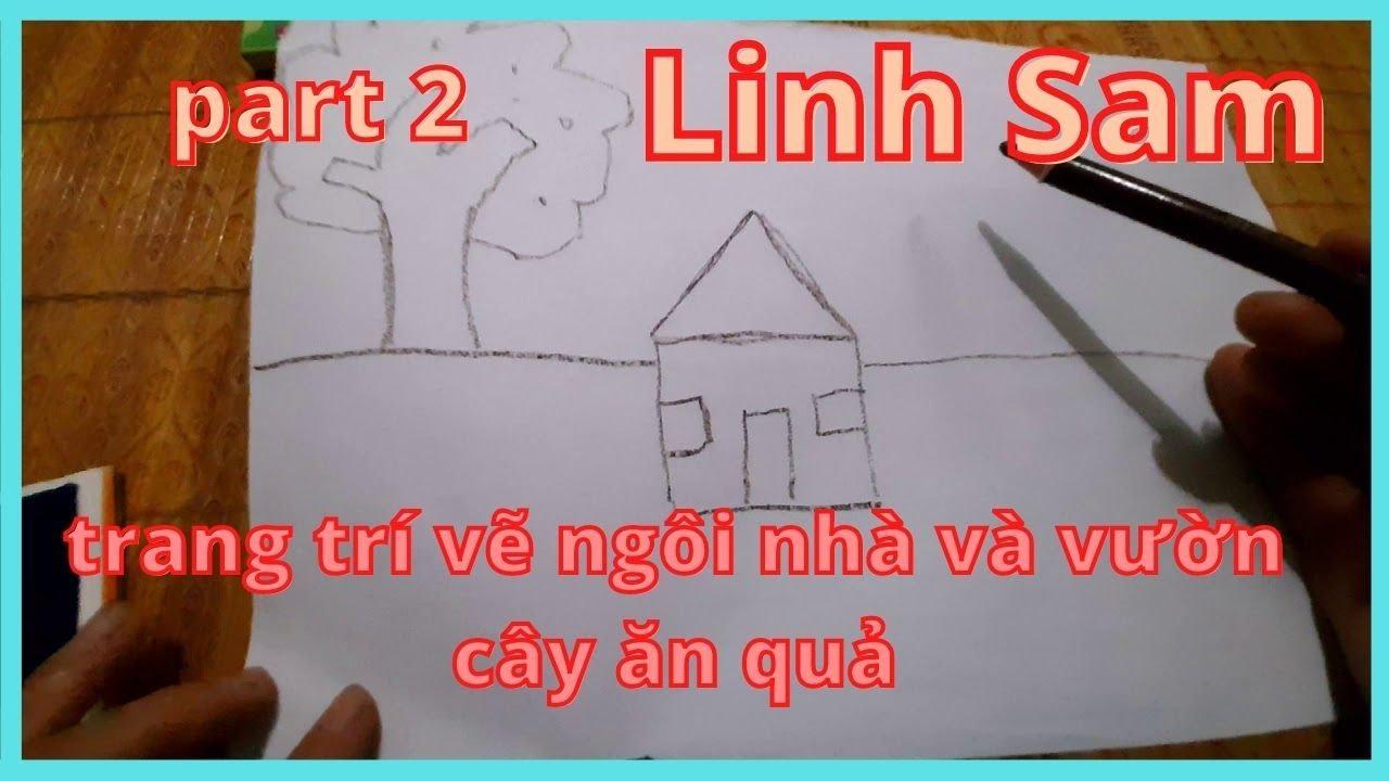 trang trí vẽ ngôi nhà và vườn cây ăn quả#1
