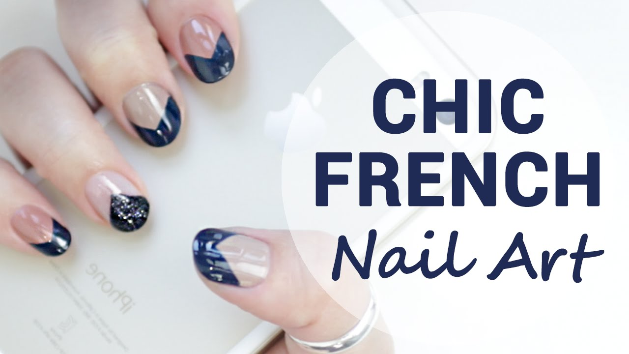 Deep & Chic French Nails for Short Nails | Wishtrend - YouTube