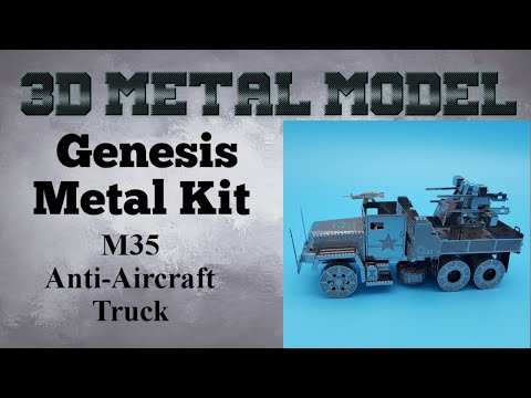 Genesis Metal Model Build - M35 Anti-Aircraft Truck