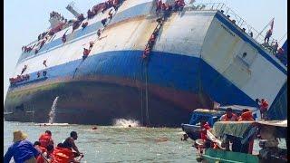 video detik-detik tenggelamnya kapal KM Wihan Sejahtera di Teluk Lamong Surabaya