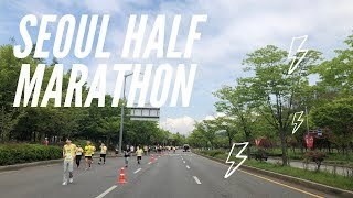 Vlog: Seoul Half Marathon! 서울 하프 마라톤! Running around Seoul :)