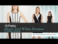 10 Pretty Black And White Dresses Collection By Calvin Klein Winter 2017