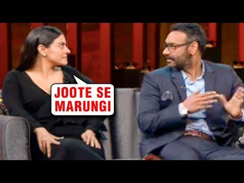 Kajol Ajay Devgn At Koffee With Karan Season 6