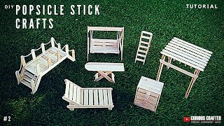 Popsicle Stick Furniture and Structures - [for Dollhouse, Scaled Model or Fairy Garden]