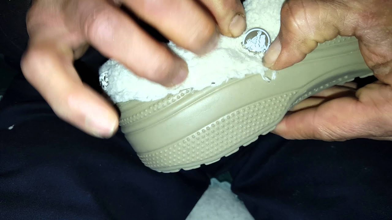 How to remove liner from Crocs shoes by Danny Dukes - YouTube